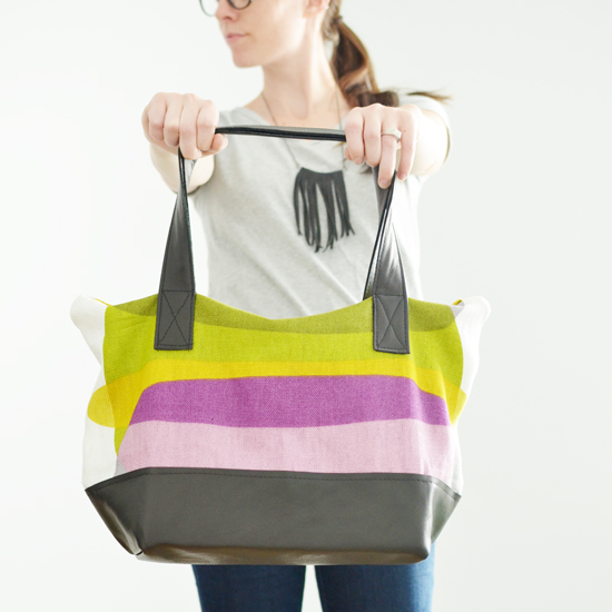 Isly ikea hack pillow to tote 2 after